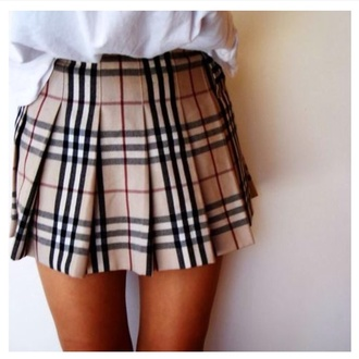 plaid skirt skirt
