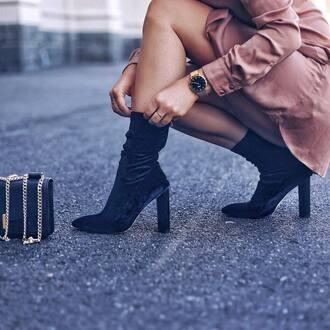 shoes tumblr sock boots blue boots velvet velvet boots velvet shoes gold watch watch dress pink dress mini dress
