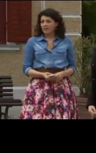 dress denim shirt shirt floral skirt