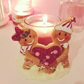 jewels,candle decor,candle,gingerbread,christmas,holiday season,holiday home decor