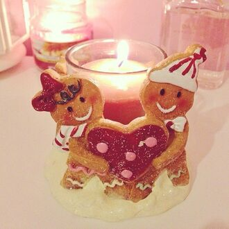 jewels candle decor candle gingerbread christmas holiday season holiday home decor