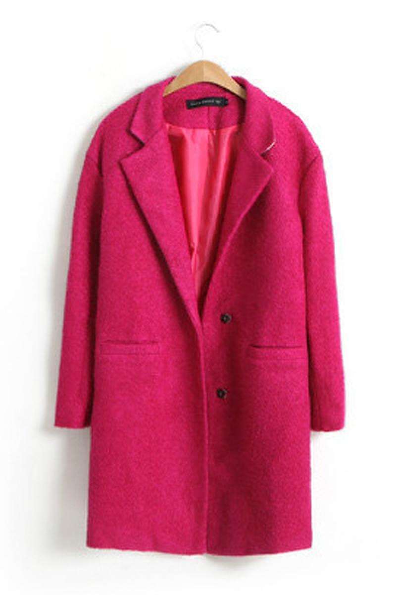 Loose Long Sections Woolen Overcoat,Cheap in Wendybox.com