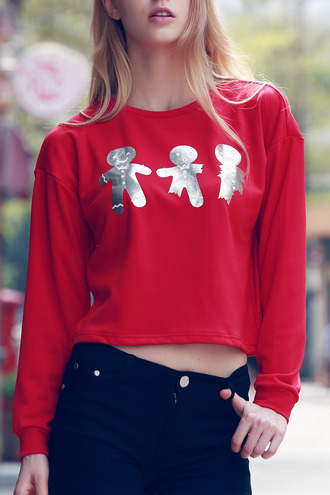 top dressfo red swag dope crop tops christmas