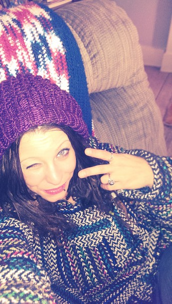 sweater beanie drug rug hippie dreads hat