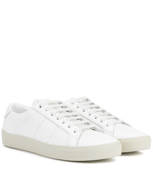 Saint Laurent sneakers leather white shoes
