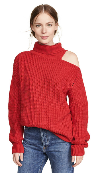 ASTR the Label Sepulveda Sweater in red