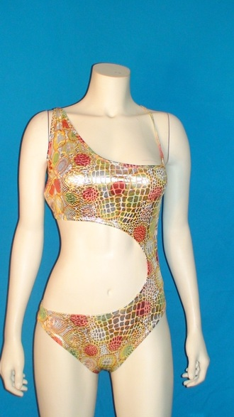 swimwear metallic textured swimsuit