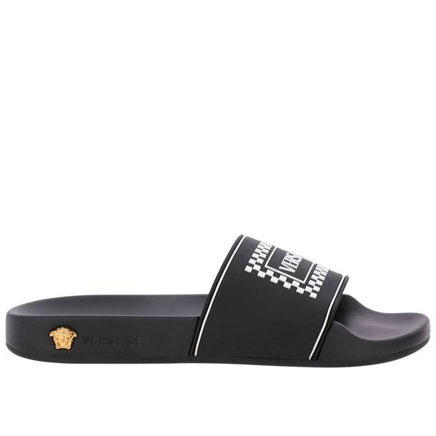Versace Flat Sandals Shoes Women Versace in black