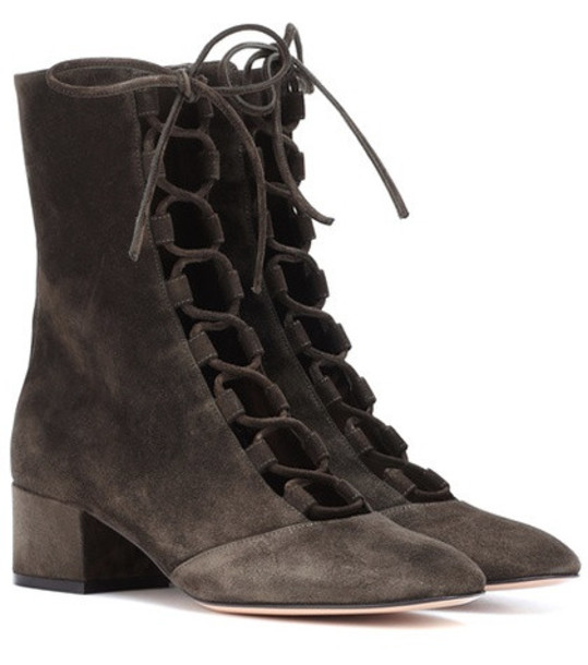 Gianvito Rossi Delia suede ankle boots in brown