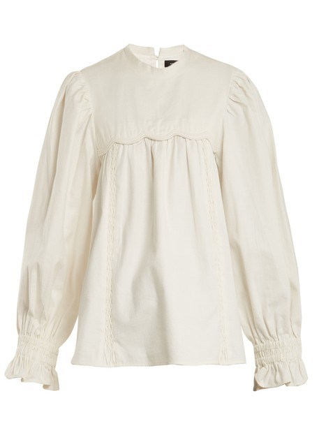 Isabel Marant top scalloped cotton cream