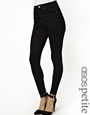 ASOS PETITE Ridley High Waist Ultra Skinny Ankle Grazer Jeans in Clean Black at asos.com