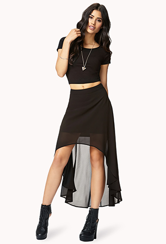 High-Low Chiffon Skirt | FOREVER21 - 2062240983