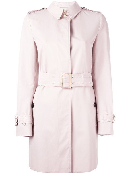 Burberry coat women cotton purple pink