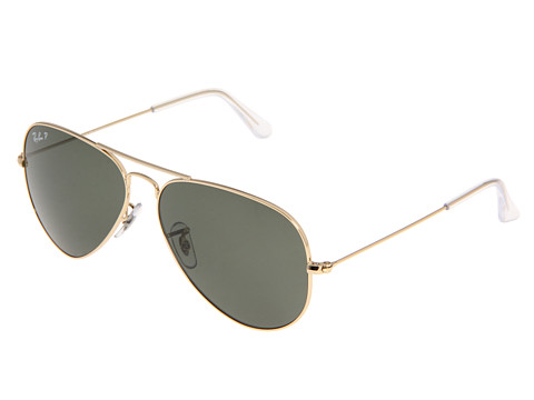 Ray-Ban 3025 Aviator Polarized 58mm  Arista/Natural Green Polarized Lens - Zappos.com Free Shipping BOTH Ways