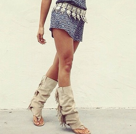 native american boho beige shoes sandals boots boholove boho chic bohogirl fransen sandalen