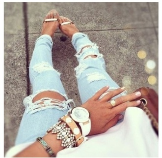 jeans white acid wash cute ripped jeans shoes