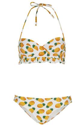 White pineapple bikini