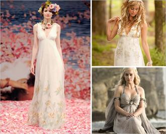 dress empire waist floral pattern cream white v neck lace chiffon sleeveless