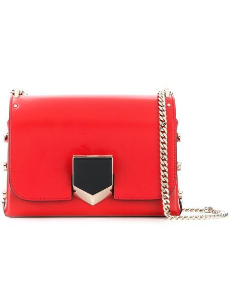 Jimmy Choo women bag shoulder bag leather red