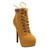 Bonnibel Boa 1 Women's Stiletto Platform Cushioned Collar Lace Up Ankle Booties | eBay