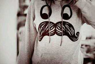 shirt sweatshirt moustache