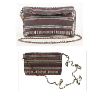 bag tribal pattern aztec crossbody bag chain bag clutch purse