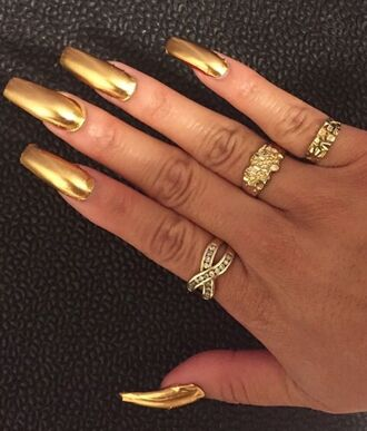 nail polish gold nails gold nails gold nail polish gold nail fashion nail accessories nail art stiletto nails