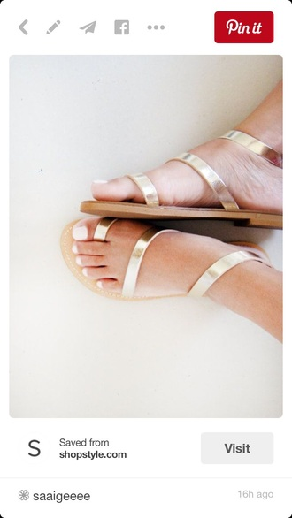 shoes gold strappy sandals