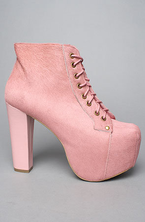 Jeffrey Campbell The Lita Shoe in Pink Pony Hair -  Karmaloop.com