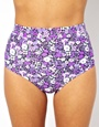 All About Eve | All About Eve Ditsy Floral High Waist Bikini Bottom at ASOS