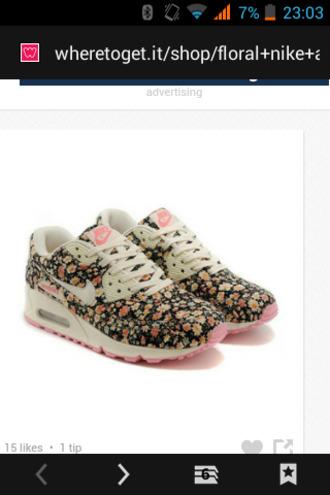 shoes nike air max 90 floral