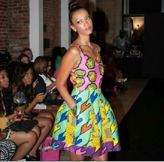 dress summer dress bright