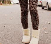 pants,leggings,leopard print,shoes
