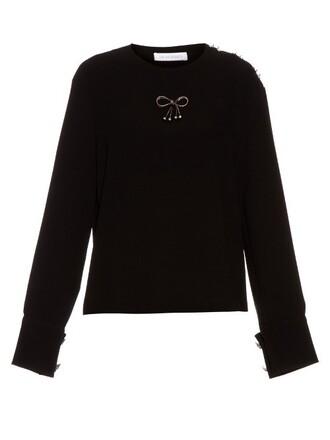 top bow embellished black