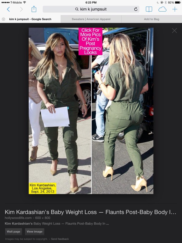jumpsuit khaki green kim kardashian