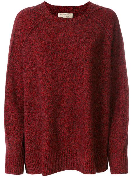 Burberry jumper women wool knit red sweater