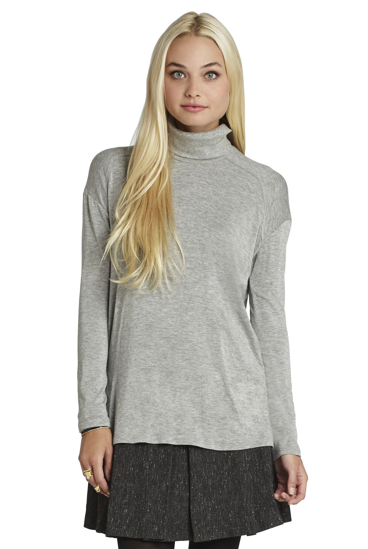 Turtleneck High-Low Top