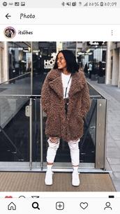 coat,shaggy coat,oversized coat,faux fur,fax fur coat