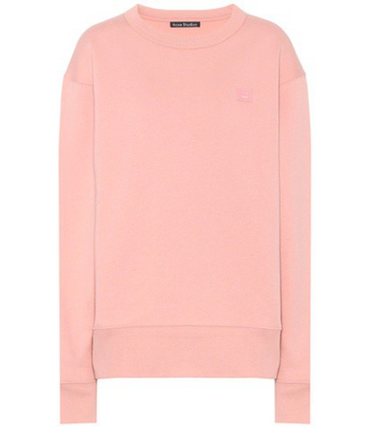Acne Studios sweatshirt cotton pink sweater