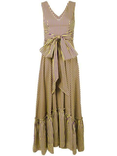 P.A.R.O.S.H. Long Striped Dress - Farfetch