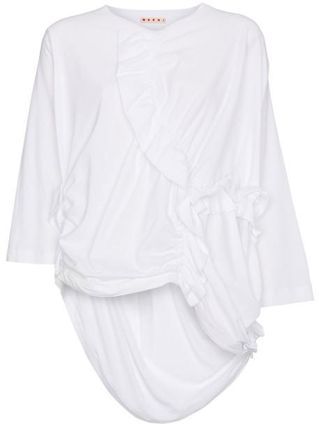 MARNI top oversized women white cotton