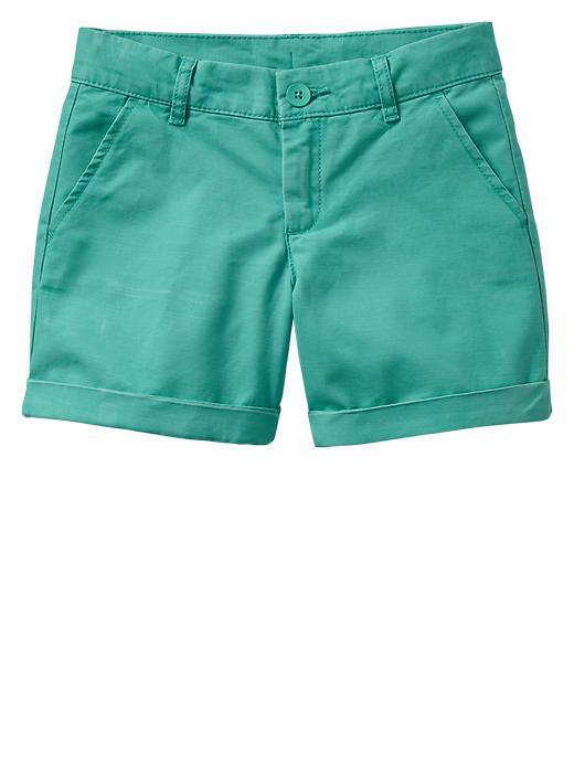 gap classic khaki shorts - green cascade