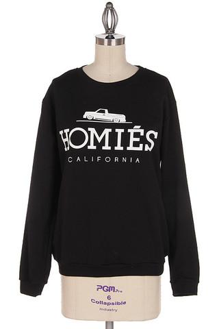 Homies Sweatshirt (homies sweatshirt) | Tops | Jaydes Boutique