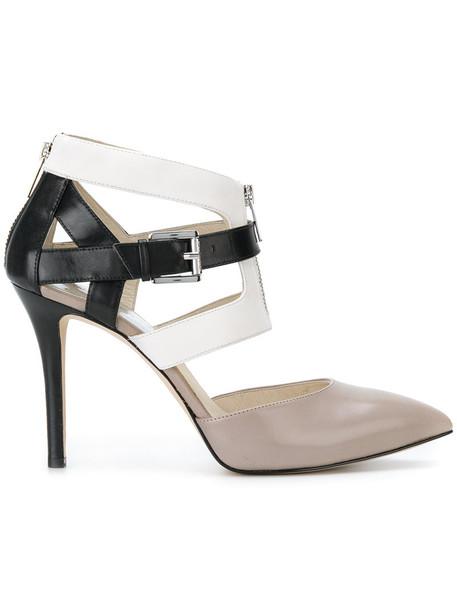 MICHAEL Michael Kors zip women pumps leather nude shoes