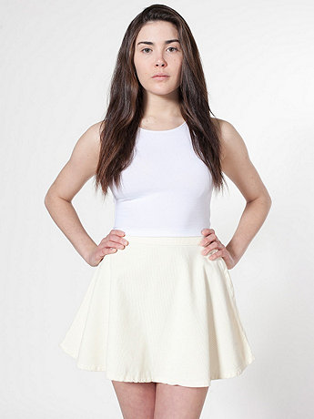 Corduroy Circle Skirt  | American Apparel