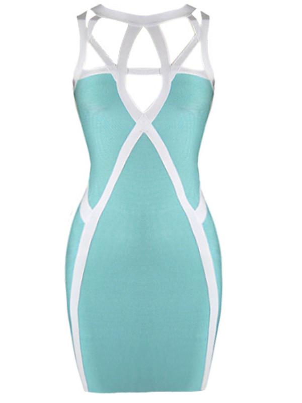 dress teal teal dress bandage dress kim kardashian