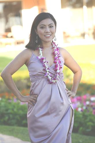 wearing fashion fluently blogger silk dress
