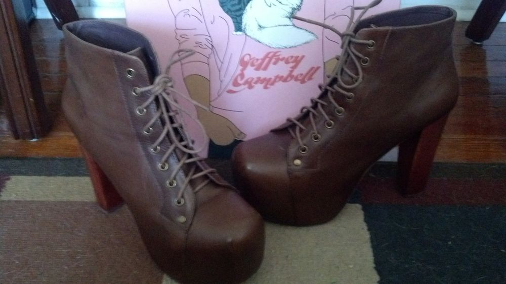 Used Jeffrey Campbell Lita Brown Calf Size 10 with Box | eBay