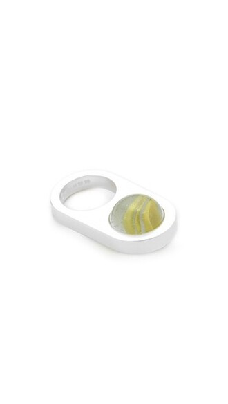 ring silver marble jewels