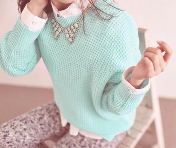 shirt jeans sweater jewels